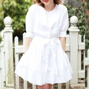 Gap Designed & Crafted White Cotton Dress - 12